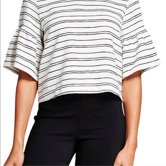 Who What Wear Tops - Who What Wear striped bell sleeve top